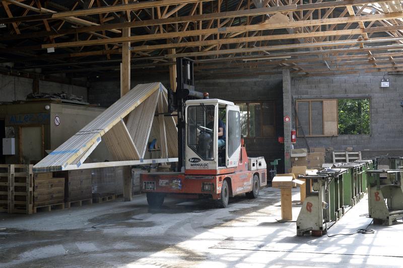 Atelier charpentes industrielles - Préparation livraison