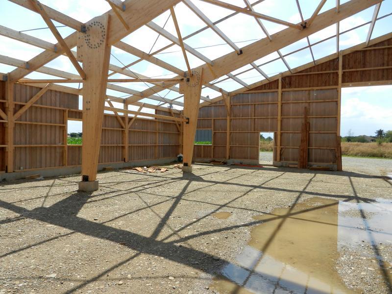 Portiques grandes portées - Bâtiment industriel bois